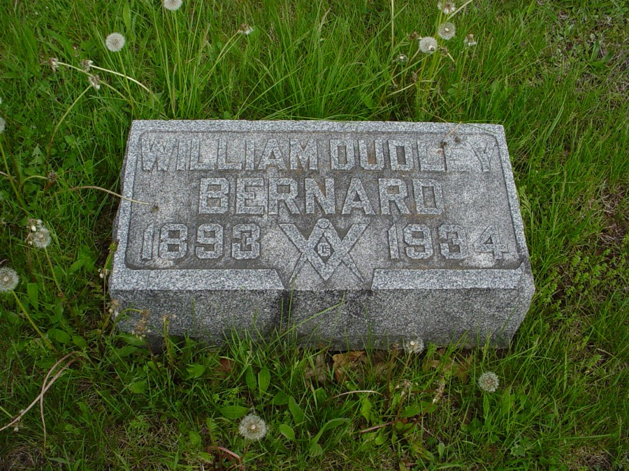 William Dudley Bernard Headstone Photo, Bachelor Cemetery, Callaway County genealogy