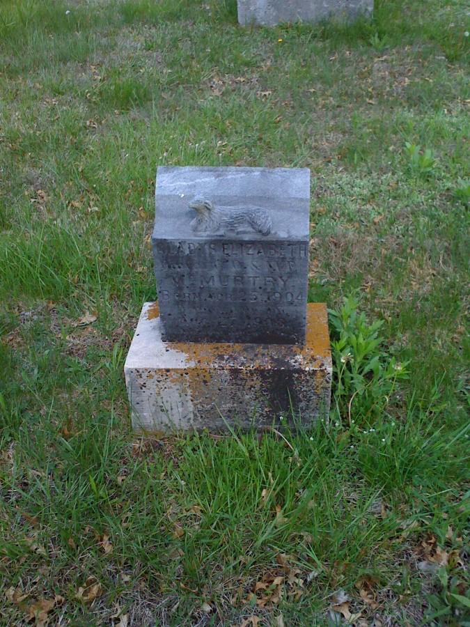 Gladys Elizabeth McMurtry Headstone Photo, Bachelor Cemetery, Callaway County genealogy