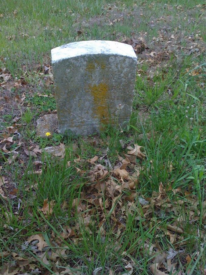 Infant Son Myers Headstone Photo, Bachelor Cemetery, Callaway County genealogy