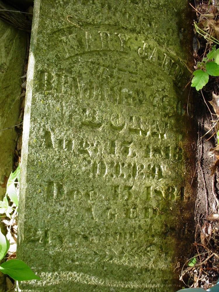 Mary Jane Hawkins Cason Headstone Photo, Cason Family Cemetery, Callaway County genealogy