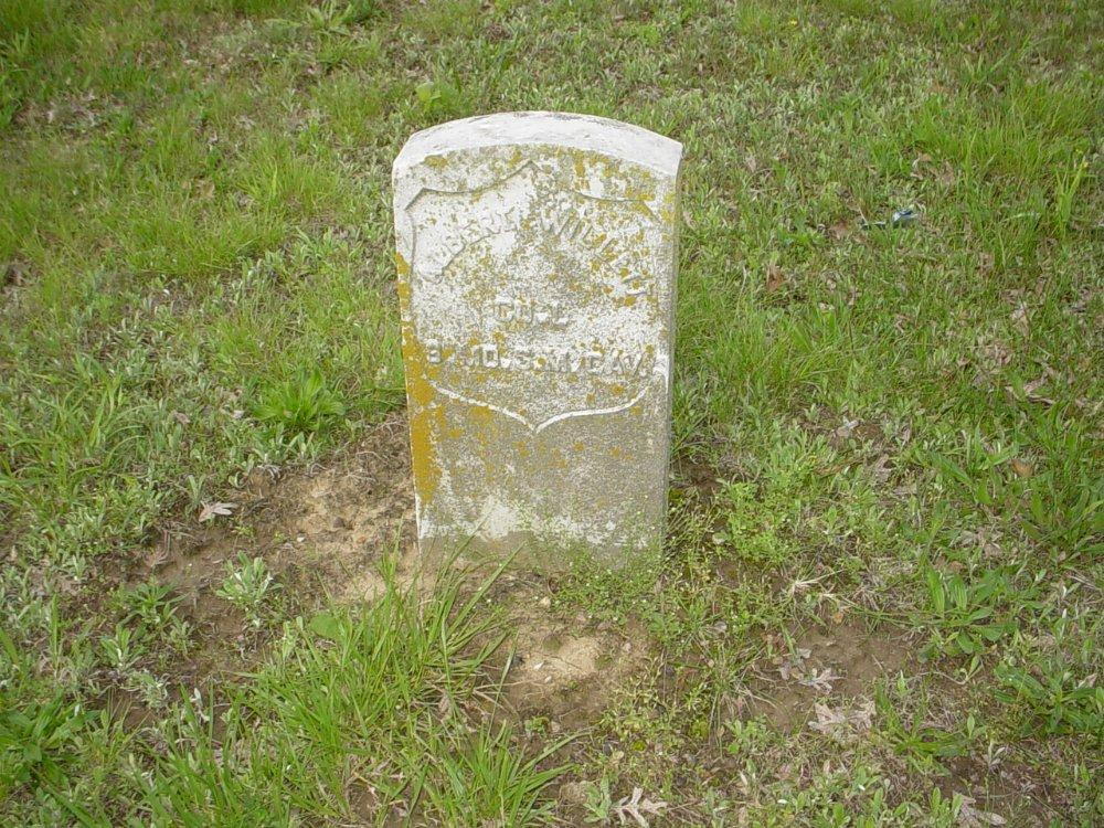 Albert Willett Headstone Photo, Central Christian Church Cemetery, Callaway County genealogy