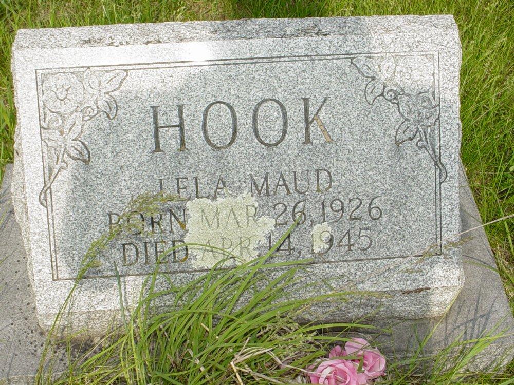 Lela Maud Hook Headstone Photo, Central Christian Church Cemetery, Callaway County genealogy