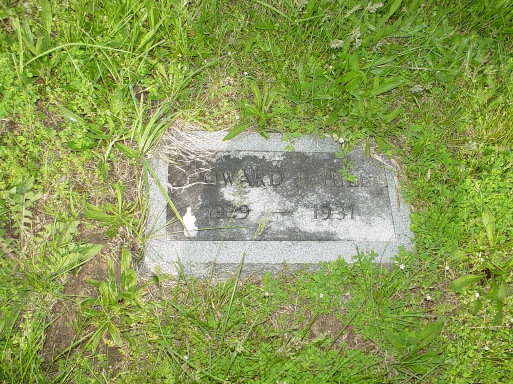 Howard Franklin Hill Headstone Photo, Central Christian Church Cemetery, Callaway County genealogy