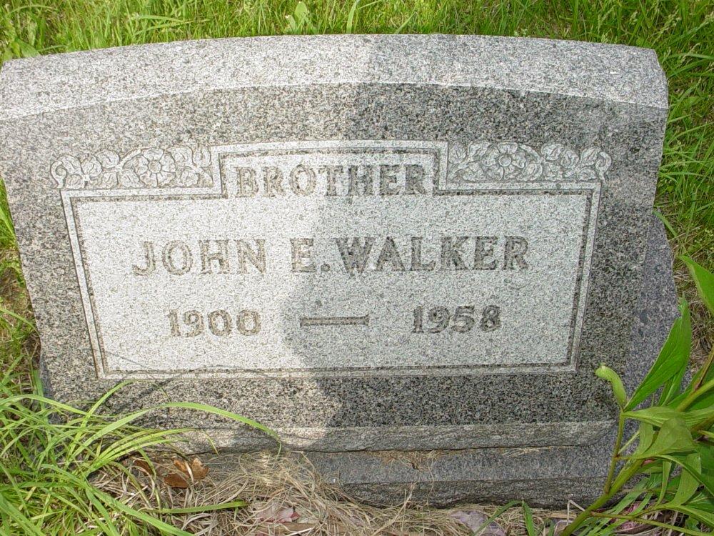 John E. Walker Headstone Photo, Central Christian Church Cemetery, Callaway County genealogy