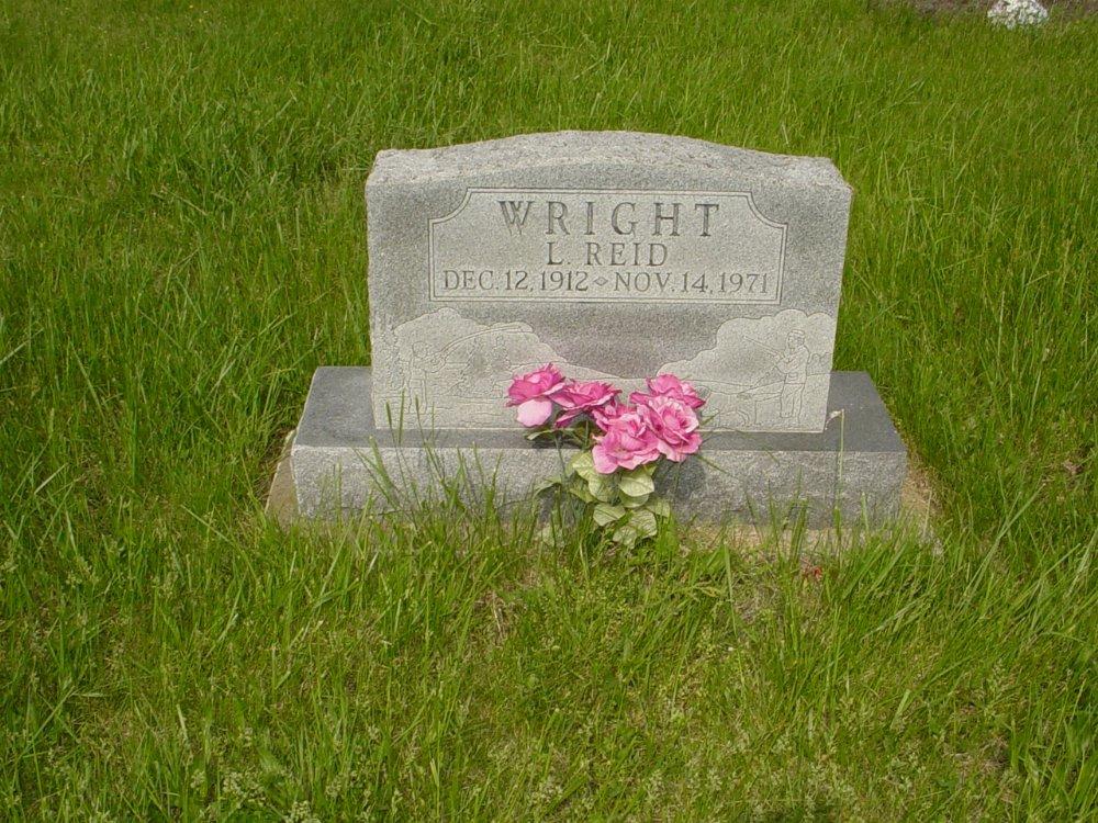 L. Reid Wright Headstone Photo, Central Christian Church Cemetery, Callaway County genealogy