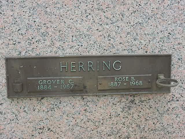 Grover Herring and Rose Baysinger Headstone Photo, Florida Memorial Gardens, Callaway County genealogy