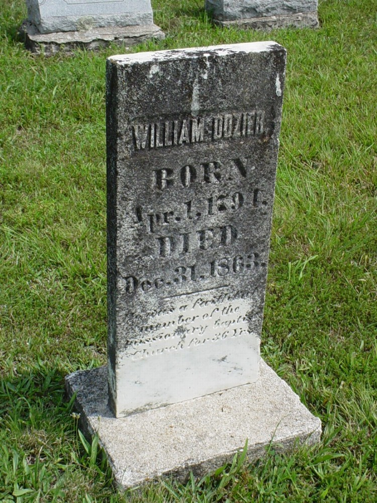 William Dozier Headstone Photo, Dry Fork Cemetery, Callaway County genealogy