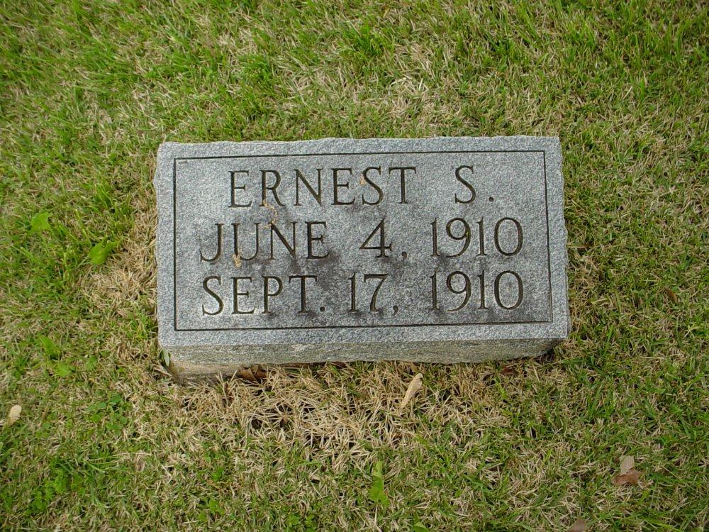 Ernest S. Breid Headstone Photo, Hams Prairie Christian Cemetery, Callaway County genealogy
