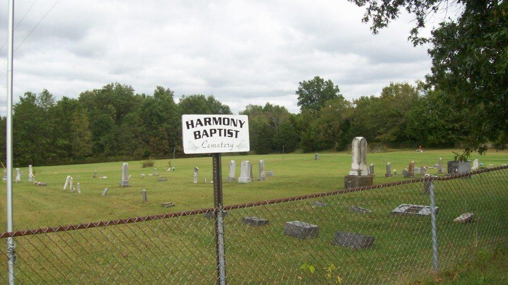 Harmony cemetery Headstone Photo, Harmony Baptist Cemetery, Callaway County genealogy