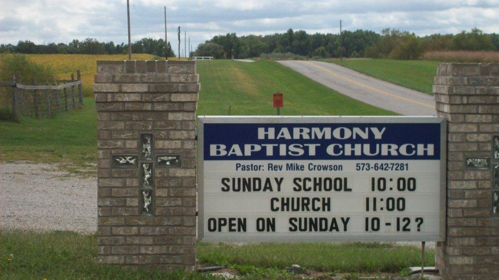 Harmony church Headstone Photo, Harmony Baptist Cemetery, Callaway County genealogy