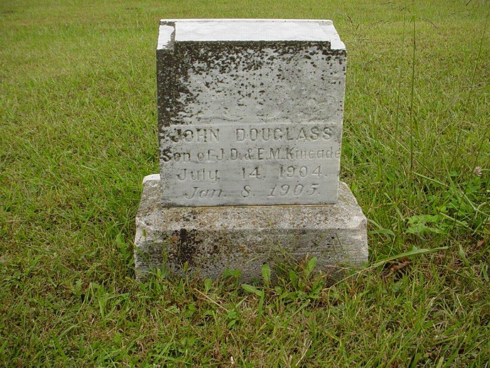 John Douglas Kincade Headstone Photo, Harmony Baptist Cemetery, Callaway County genealogy