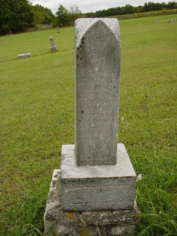Jessie Lee Owen Headstone Photo, Harmony Baptist Cemetery, Callaway County genealogy