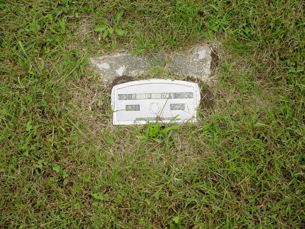 Floyd Davidson Headstone Photo, Harmony Baptist Cemetery, Callaway County genealogy
