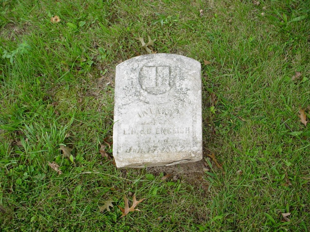 Infant Daughter English Headstone Photo, Harmony Baptist Cemetery, Callaway County genealogy
