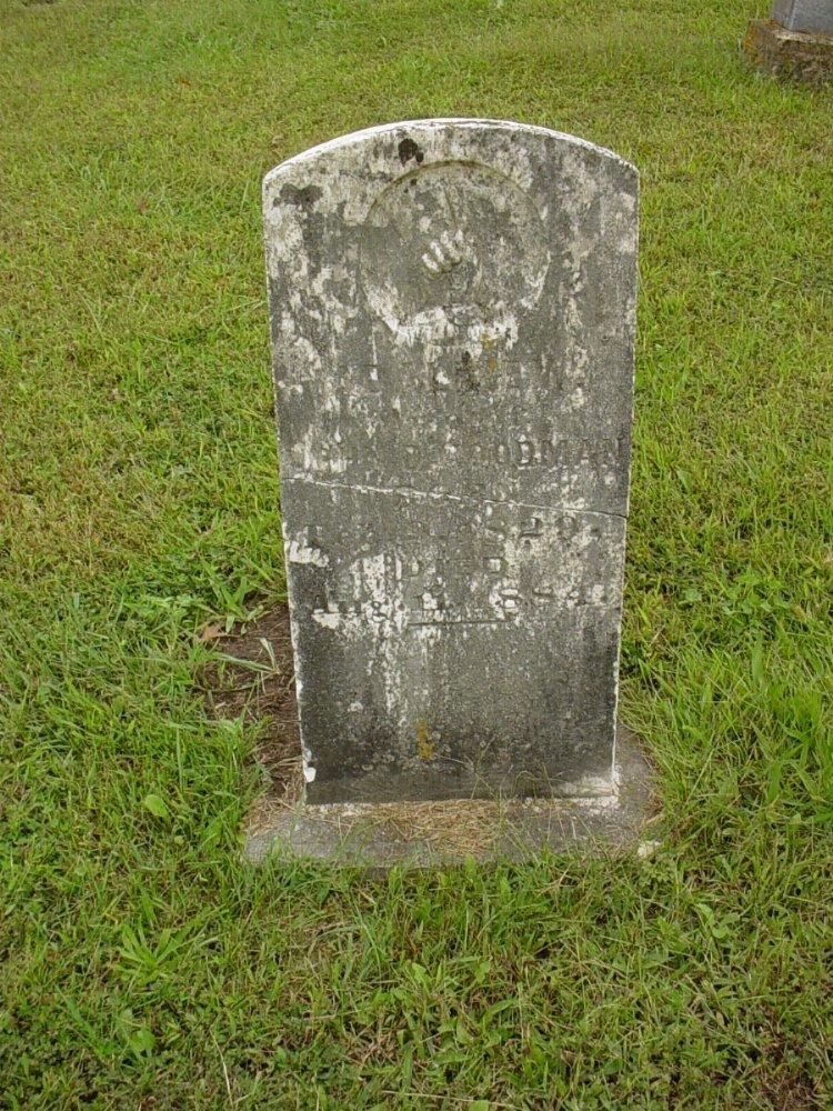 Adeline Goodman Headstone Photo, Harmony Baptist Cemetery, Callaway County genealogy