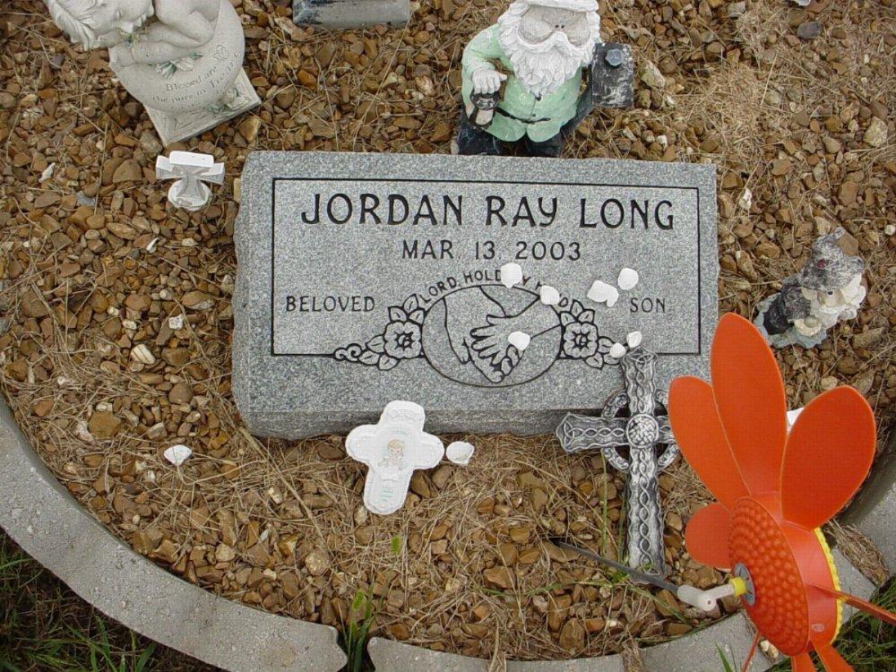 Jordan Ray Long Headstone Photo, Harmony Baptist Cemetery, Callaway County genealogy