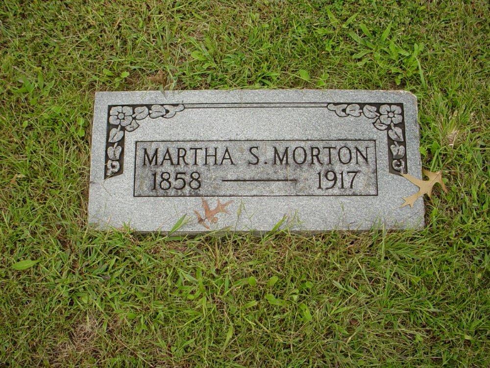 Martha Gilbert Morton Headstone Photo, Harmony Baptist Cemetery, Callaway County genealogy