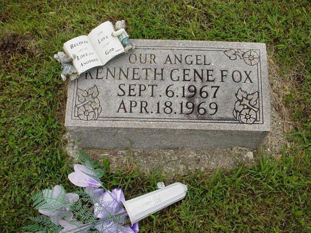 Kenneth Gene Fox Headstone Photo, Harmony Baptist Cemetery, Callaway County genealogy
