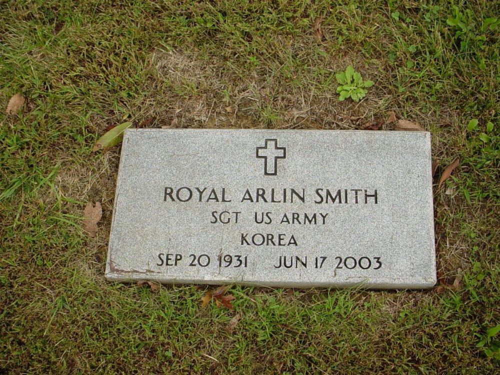 Royal Smith Headstone Photo, Harmony Baptist Cemetery, Callaway County genealogy