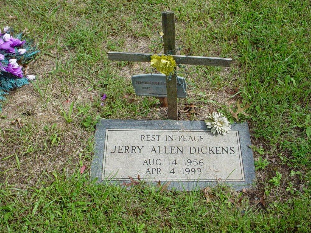 Jerry Dickens Headstone Photo, Harmony Baptist Cemetery, Callaway County genealogy