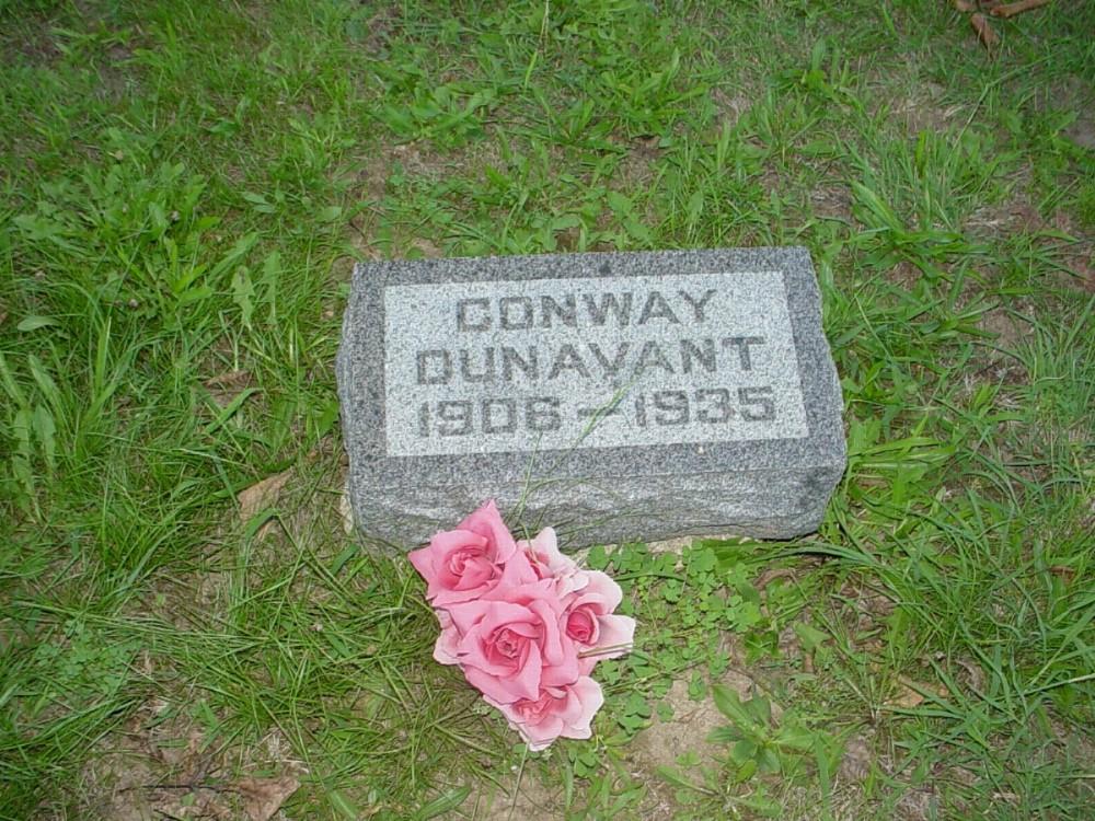 Ida Conway Dunavant Headstone Photo, Hillcrest Cemetery, Callaway County genealogy