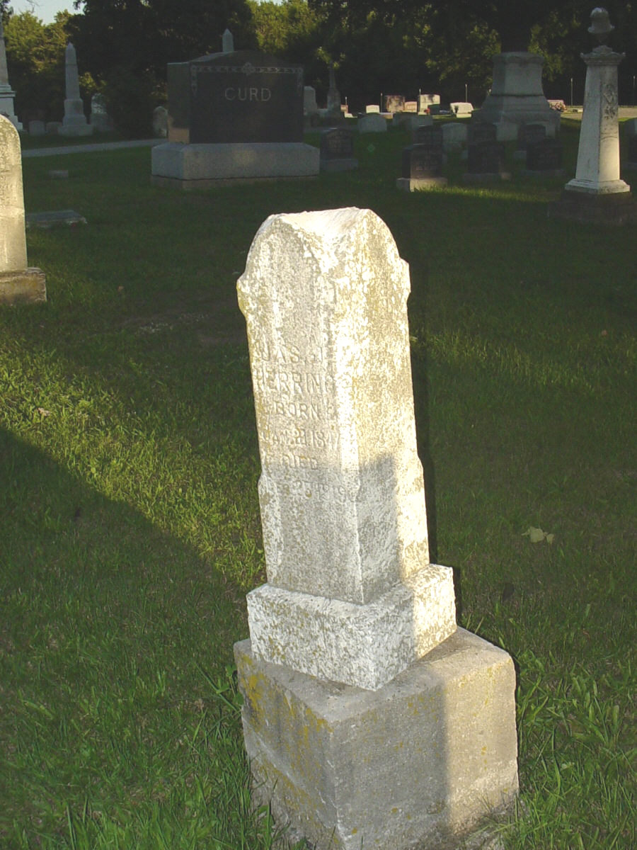 James J. Herring Headstone Photo, Hillcrest Cemetery, Callaway County genealogy