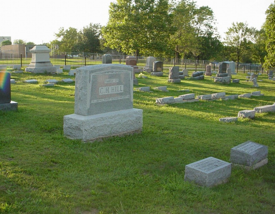 Hill family Headstone Photo, Hillcrest Cemetery, Callaway County genealogy