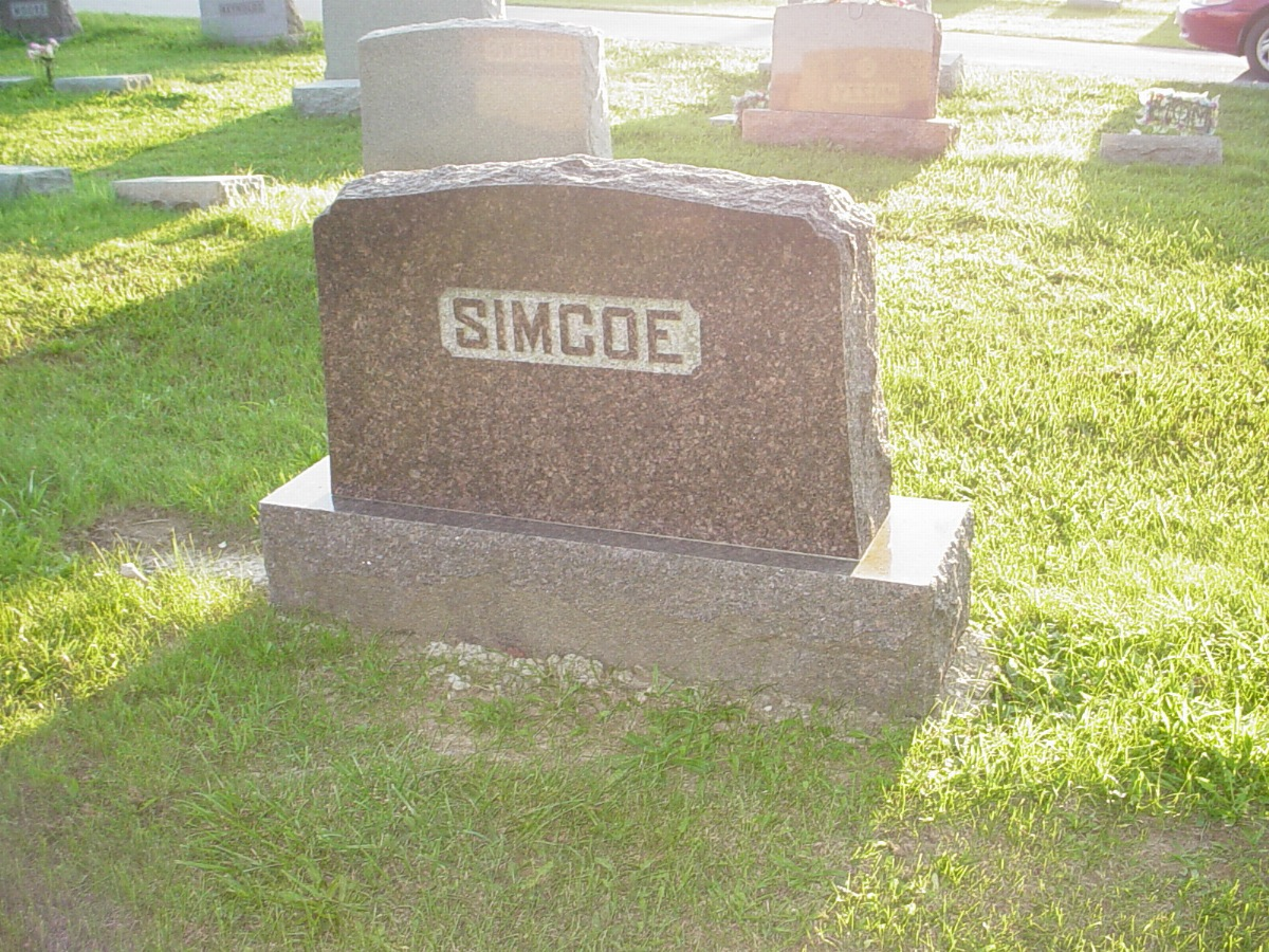 Simco family Headstone Photo, Hillcrest Cemetery, Callaway County genealogy