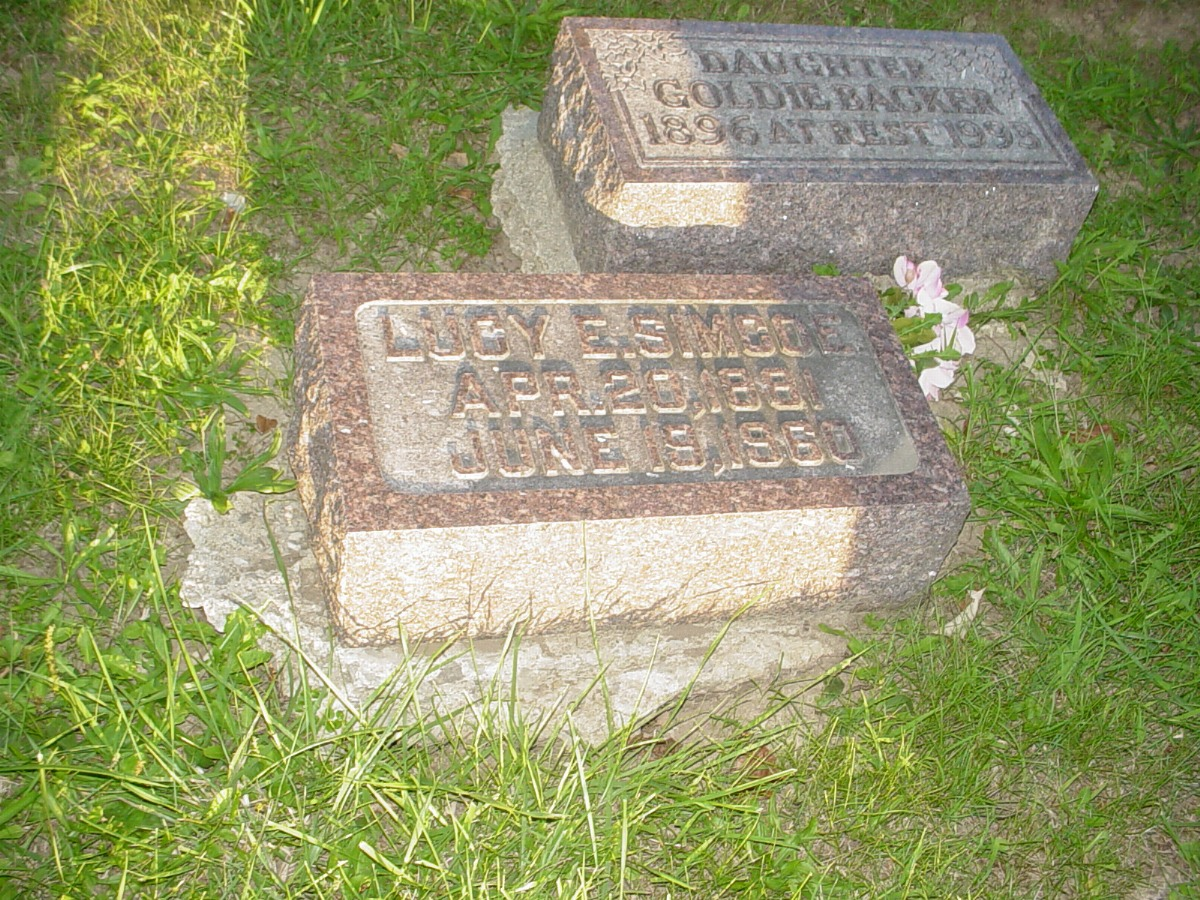 Lucy E. Corless Simco Headstone Photo, Hillcrest Cemetery, Callaway County genealogy