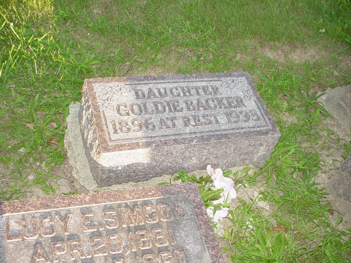 Goldie Backer Headstone Photo, Hillcrest Cemetery, Callaway County genealogy