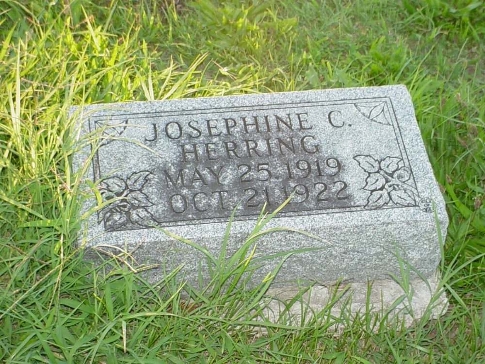 Josephine C. Herring Headstone Photo, Hillcrest Cemetery, Callaway County genealogy