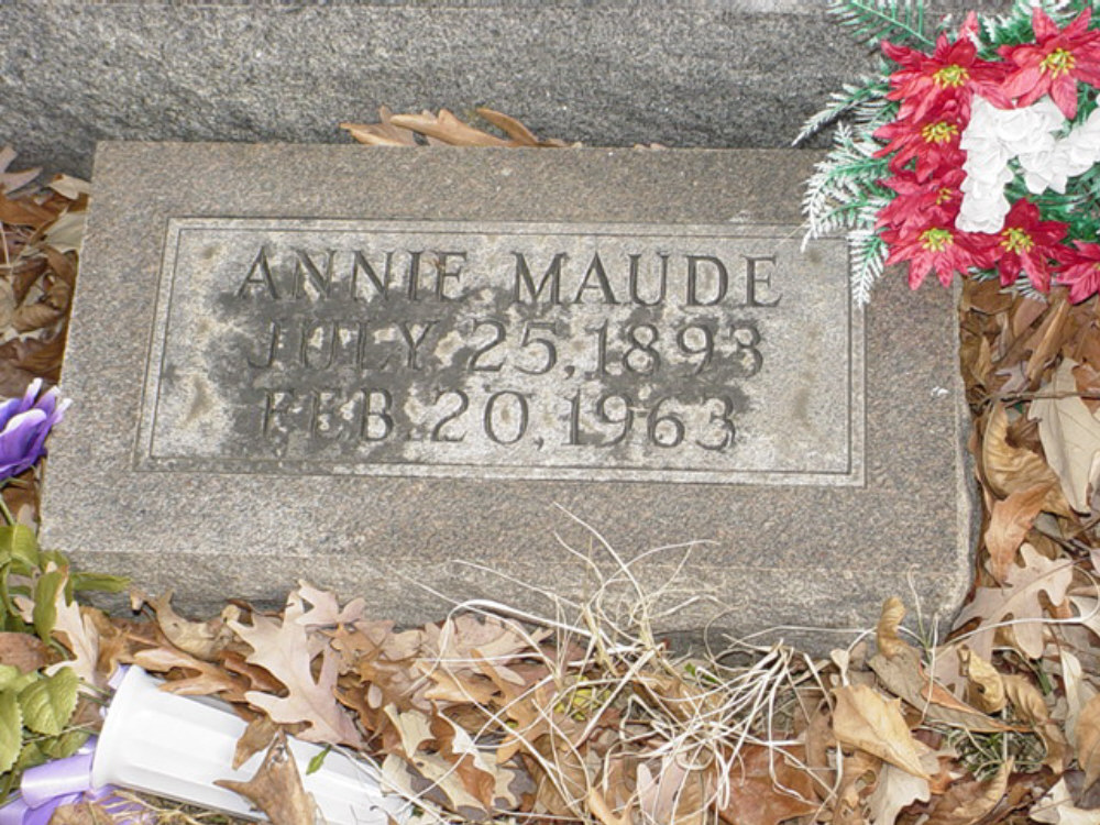 Annie Maude Smith Headstone Photo, Hillcrest Cemetery, Callaway County genealogy