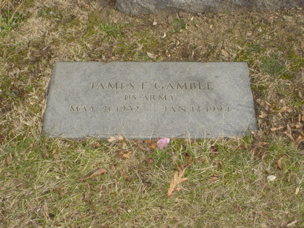 James F. Gamble Jr. Headstone Photo, Hillcrest Cemetery, Callaway County genealogy