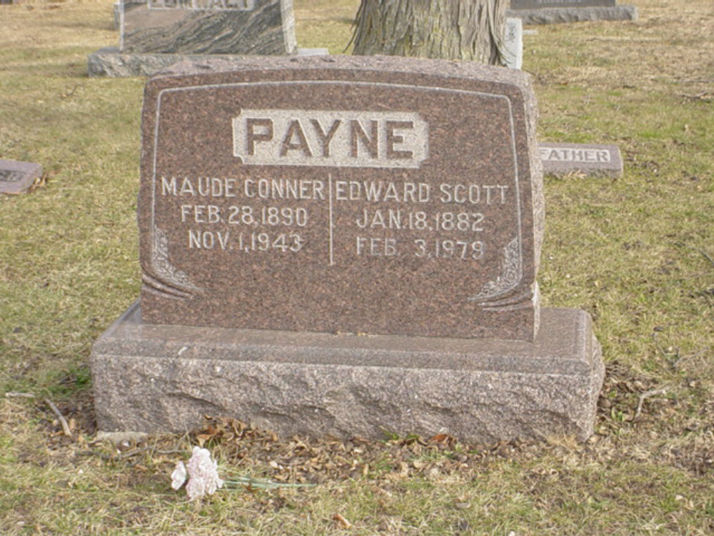 Ewdard S. Payne & Maude Conner Headstone Photo, Hillcrest Cemetery, Callaway County genealogy