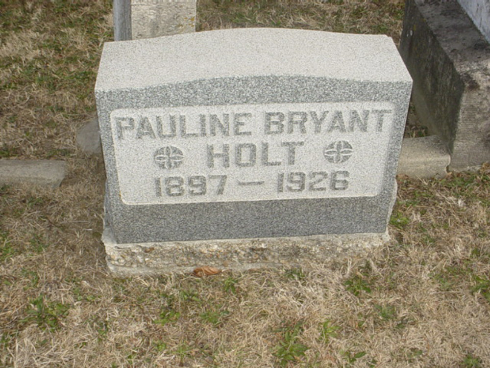 Pauline Bryant Holt Headstone Photo, Hillcrest Cemetery, Callaway County genealogy