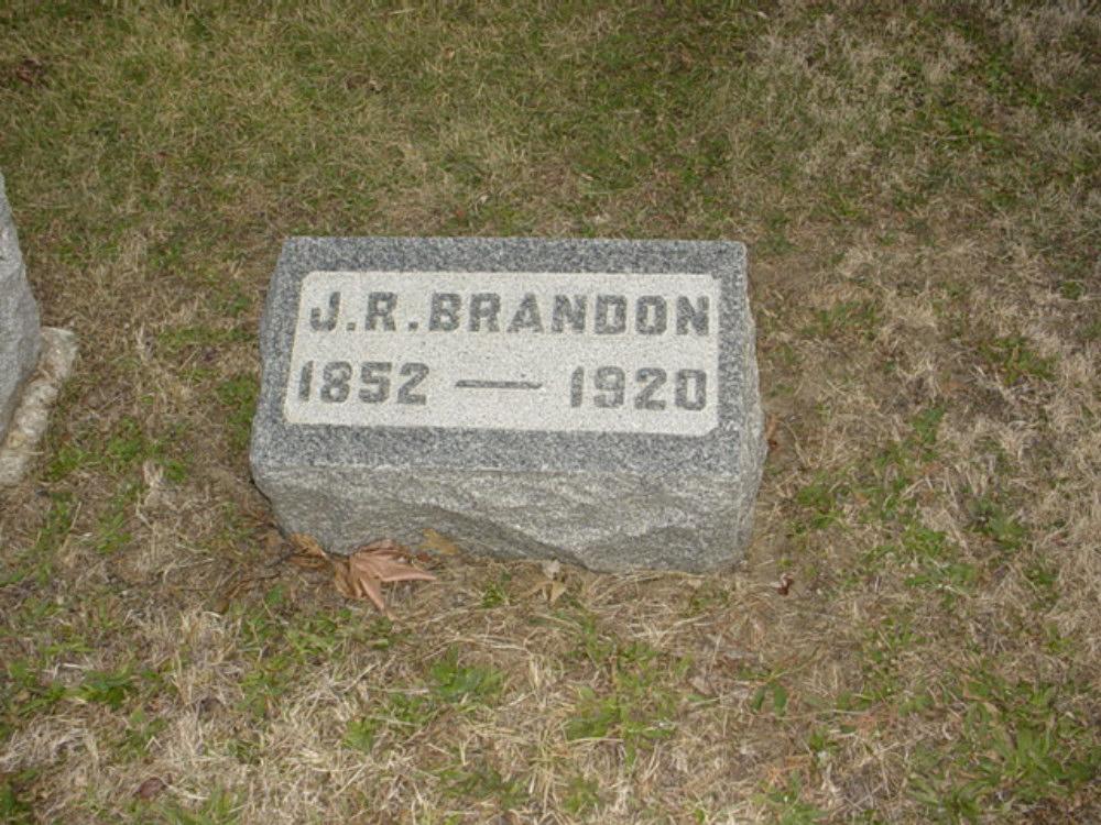 John R. Brandon Headstone Photo, Hillcrest Cemetery, Callaway County genealogy