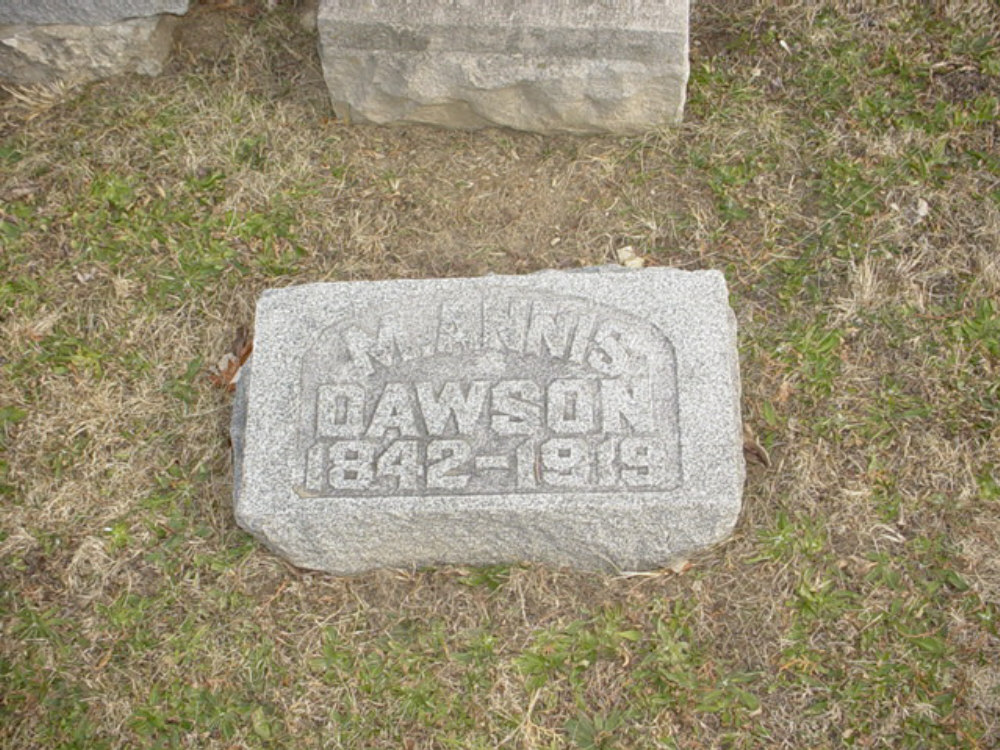 Mary Annis Dawson Headstone Photo, Hillcrest Cemetery, Callaway County genealogy
