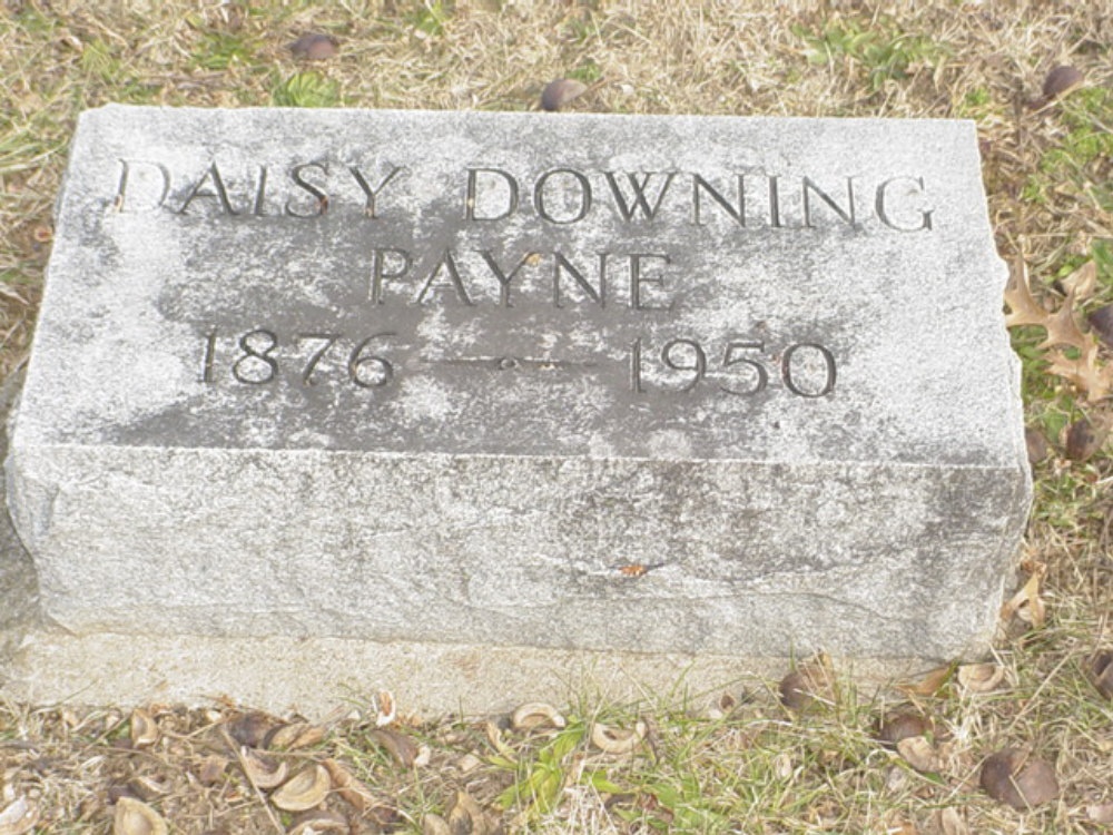 Daisy Downing Payne Headstone Photo, Hillcrest Cemetery, Callaway County genealogy