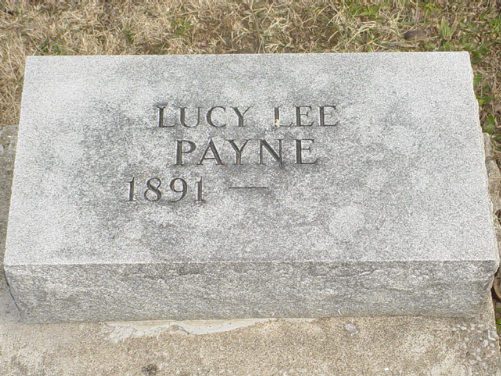 Lucy Lee Payne Headstone Photo, Hillcrest Cemetery, Callaway County genealogy