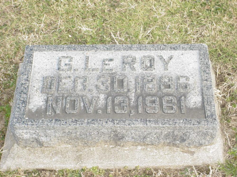 George LeRoy Dawson Headstone Photo, Hillcrest Cemetery, Callaway County genealogy