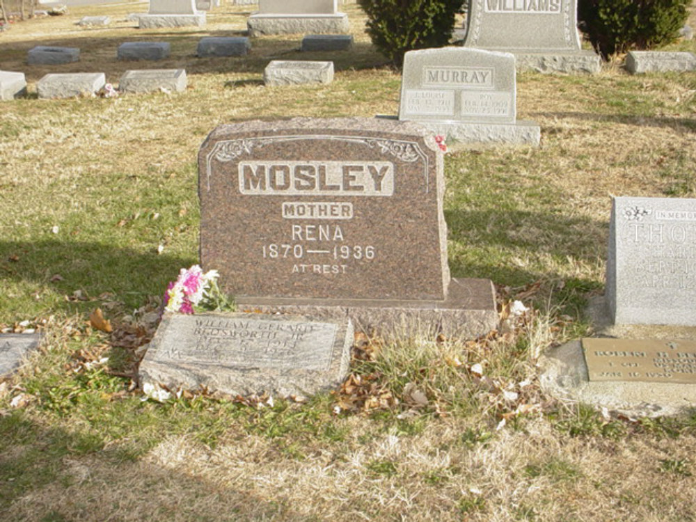 Rena Dunham Mosley Headstone Photo, Hillcrest Cemetery, Callaway County genealogy