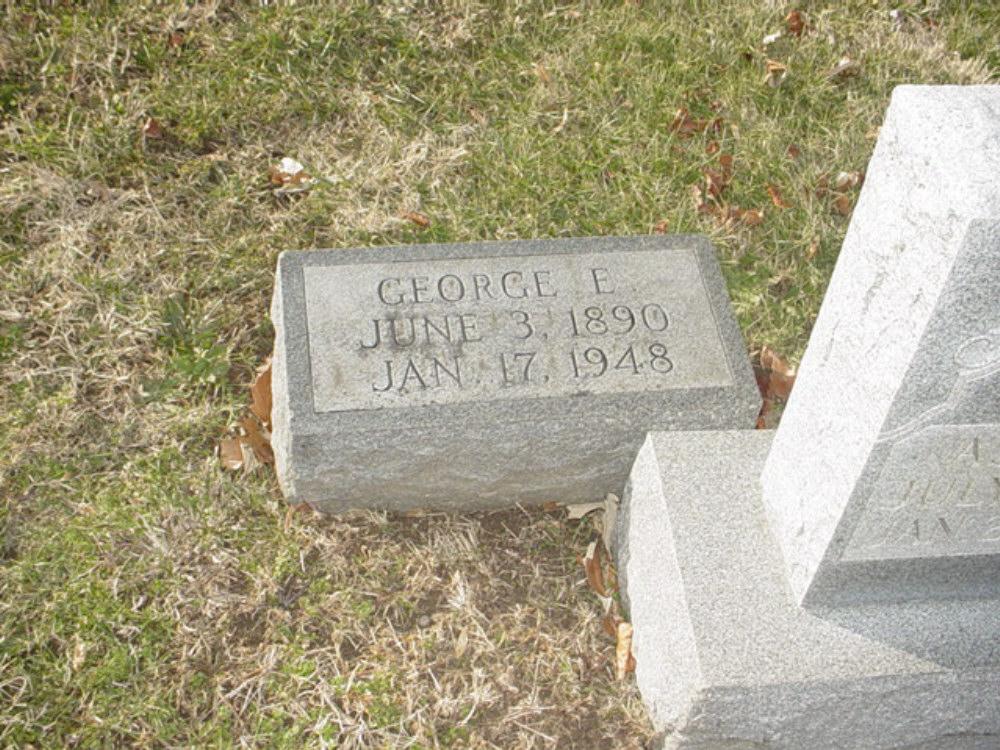 George Elmer Carrington Headstone Photo, Hillcrest Cemetery, Callaway County genealogy