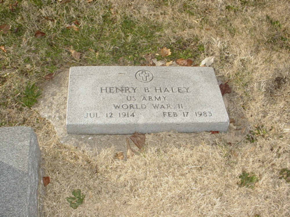 Henry B. Haley Headstone Photo, Hillcrest Cemetery, Callaway County genealogy