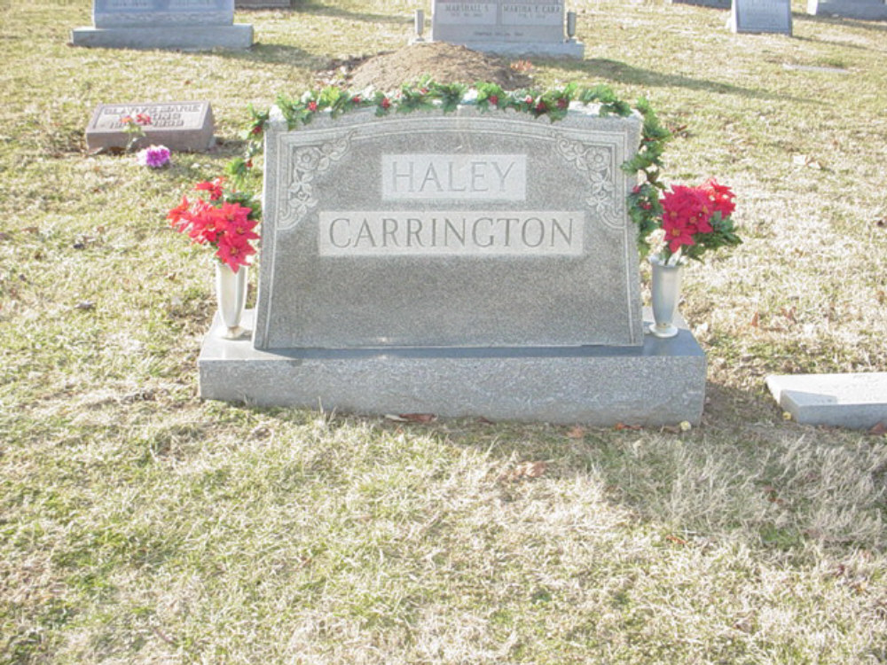 Haley - Carrington Headstone Photo, Hillcrest Cemetery, Callaway County genealogy