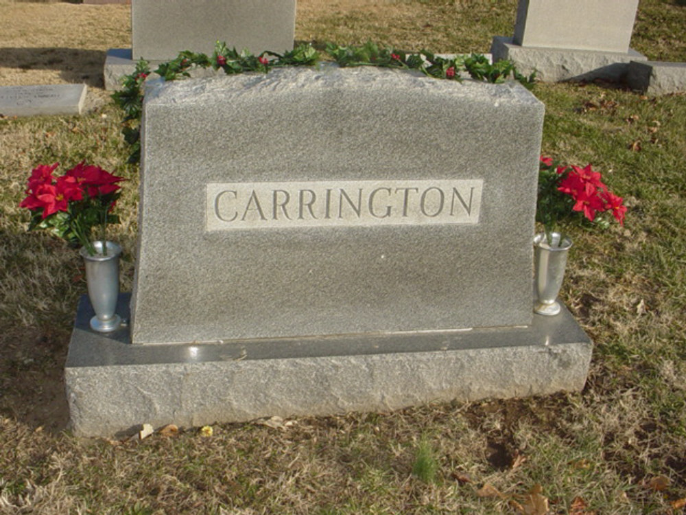 Carrington family Headstone Photo, Hillcrest Cemetery, Callaway County genealogy