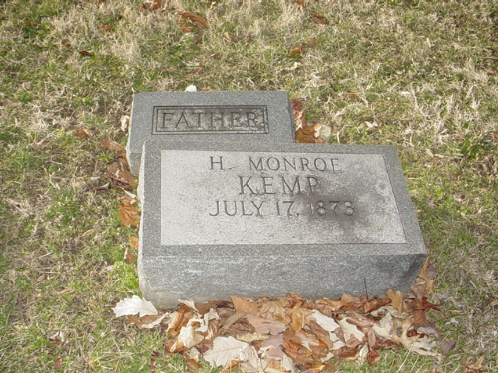 Hiram Monroe Kemp Headstone Photo, Hillcrest Cemetery, Callaway County genealogy