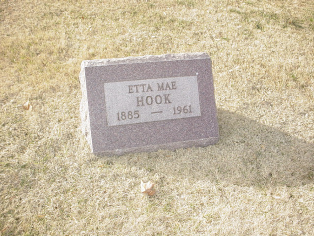 Etta Mae Hook Headstone Photo, Hillcrest Cemetery, Callaway County genealogy