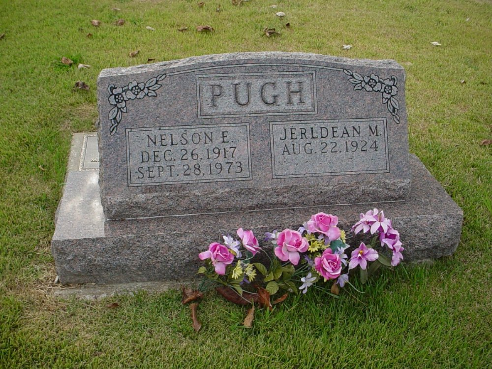 Nelson Edward Pugh Headstone Photo, Hillcrest Cemetery, Callaway County genealogy