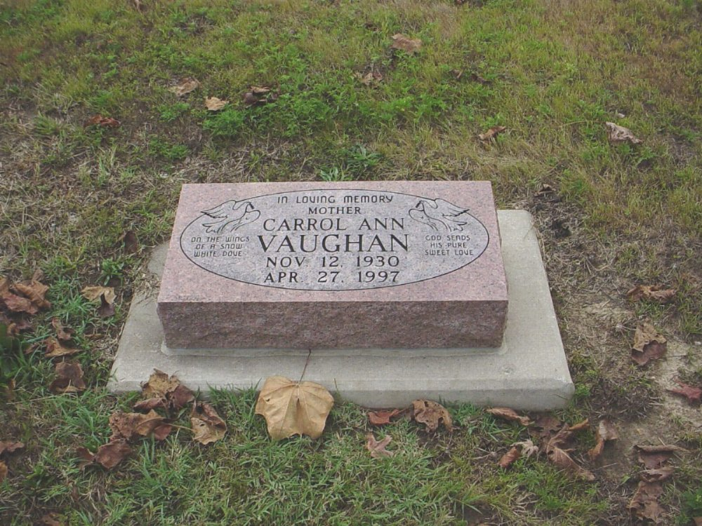 Carrol Ann Craighead Vaughan Headstone Photo, Hillcrest Cemetery, Callaway County genealogy