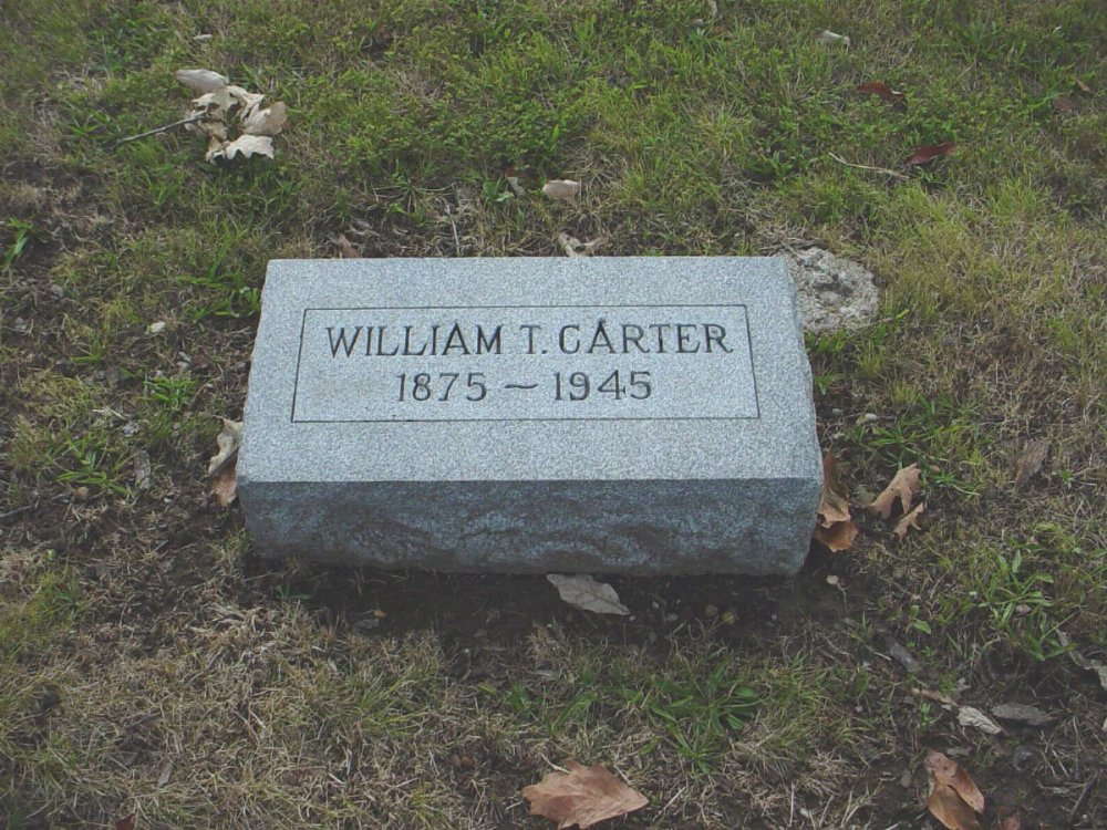 William T. Carter Headstone Photo, Hillcrest Cemetery, Callaway County genealogy